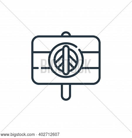 peace sign icon isolated on white background. peace sign icon thin line outline linear peace sign sy