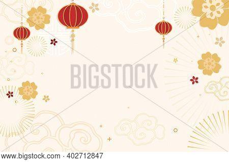 Chinese new year celebration festive beige greeting background