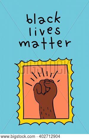 Raised fist for black lives matter movement social media story
