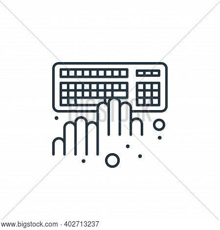 Typing Vector Icon Isolated On White Background.