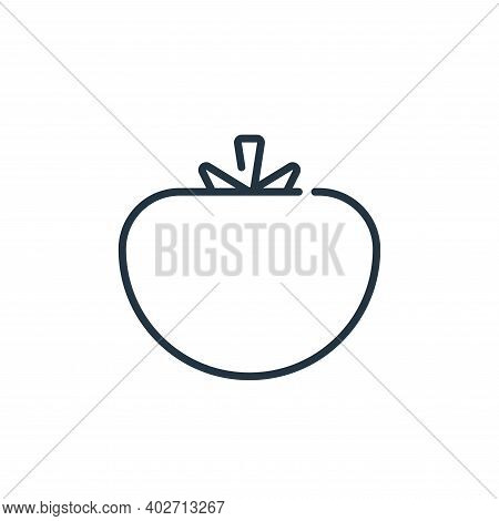 tomato icon isolated on white background. tomato icon thin line outline linear tomato symbol for log