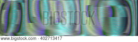 Abstract Blend Colorful Vector Moire Texture Of Volume Lines In Trendy Color 2021 Tidewater Green. C