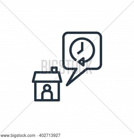 stay at home icon isolated on white background. stay at home icon thin line outline linear stay at h