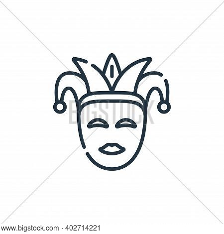 carnival icon isolated on white background. carnival icon thin line outline linear carnival symbol f