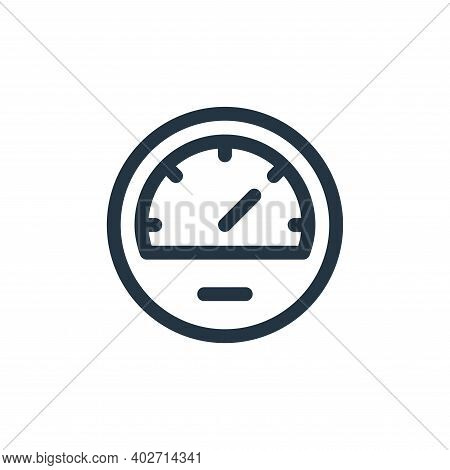 speedometer icon isolated on white background. speedometer icon thin line outline linear speedometer