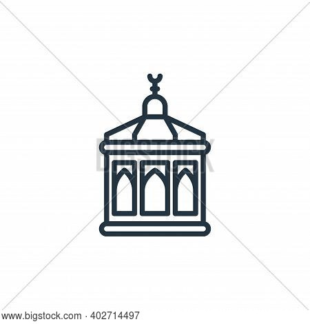 Mecca icon isolated on white background. Mecca icon thin line outline linear Mecca symbol for logo,