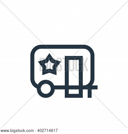 caravan icon isolated on white background. caravan icon thin line outline linear caravan symbol for