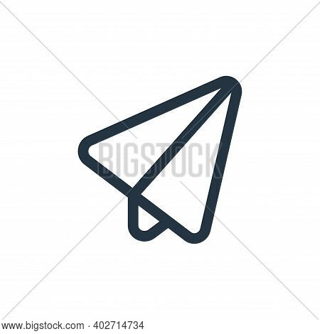 paper plane icon isolated on white background. paper plane icon thin line outline linear paper plane