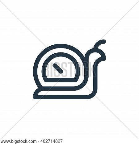 slow icon isolated on white background. slow icon thin line outline linear slow symbol for logo, web