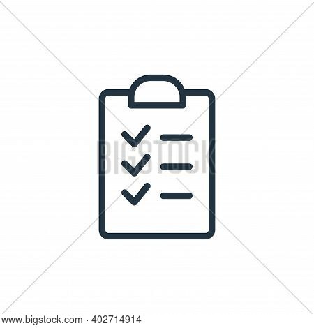 task icon isolated on white background. task icon thin line outline linear task symbol for logo, web
