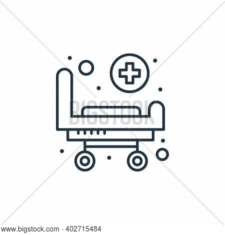 medical stretcher icon isolated on white background. medical stretcher icon thin line outline linear