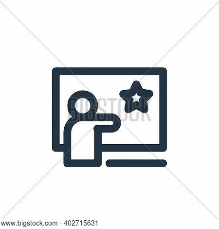 creative teaching icon isolated on white background. creative teaching icon thin line outline linear