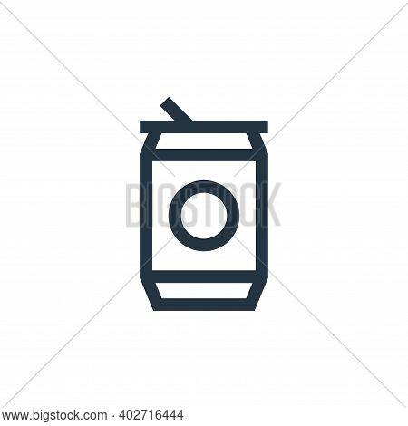 soda can icon isolated on white background. soda can icon thin line outline linear soda can symbol f