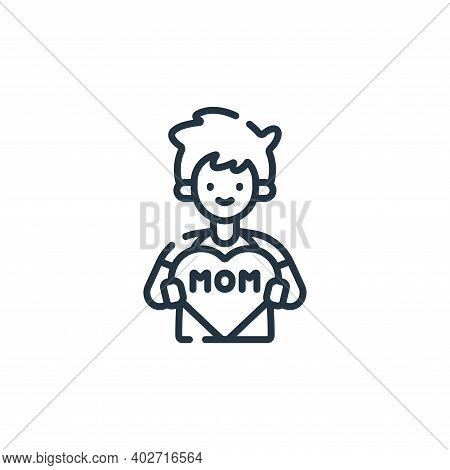 little boy icon isolated on white background. little boy icon thin line outline linear little boy sy