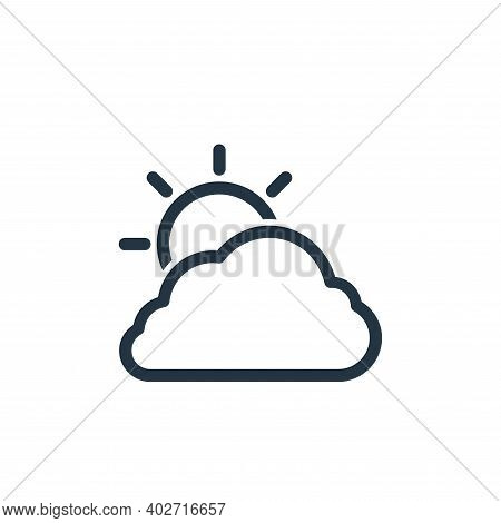 cloudy icon isolated on white background. cloudy icon thin line outline linear cloudy symbol for log