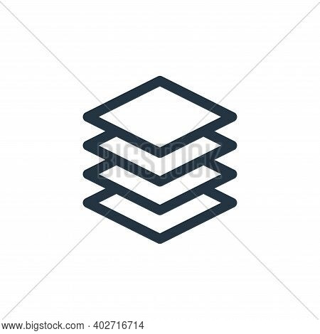 layers icon isolated on white background. layers icon thin line outline linear layers symbol for log