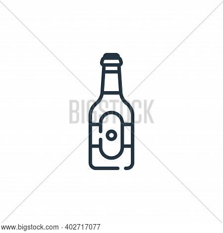 beer bottle icon isolated on white background. beer bottle icon thin line outline linear beer bottle