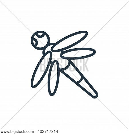 dragon fly icon isolated on white background. dragon fly icon thin line outline linear dragon fly sy