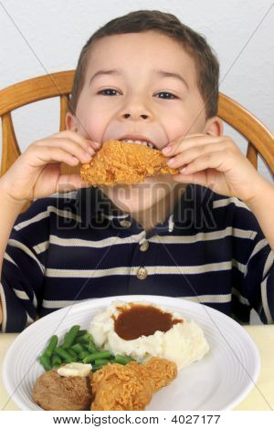 Eating Fried Chicken 5 Years Old