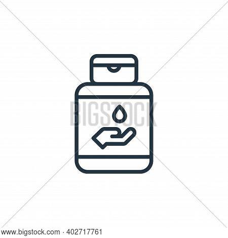hand sanitizer icon isolated on white background. hand sanitizer icon thin line outline linear hand