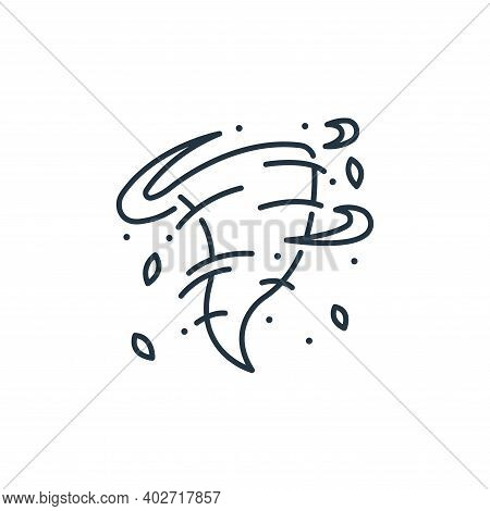 storm icon isolated on white background. storm icon thin line outline linear storm symbol for logo,
