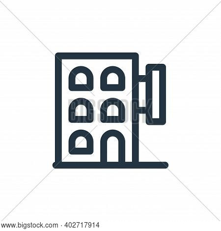 hotel icon isolated on white background. hotel icon thin line outline linear hotel symbol for logo,