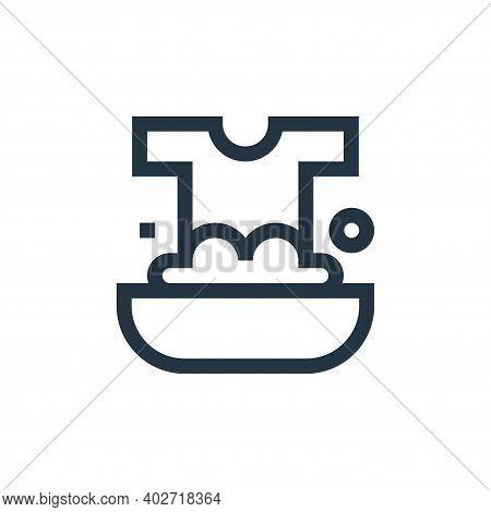 washing icon isolated on white background. washing icon thin line outline linear washing symbol for