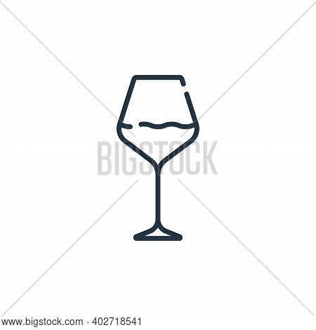 wine glass icon isolated on white background. wine glass icon thin line outline linear wine glass sy