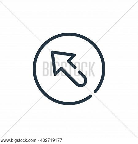 top left icon isolated on white background. top left icon thin line outline linear top left symbol f