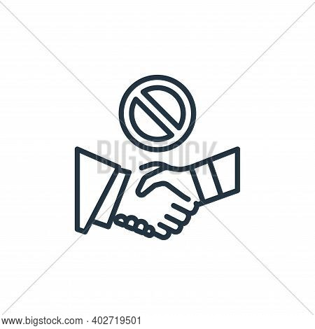 shaking hands icon isolated on white background. shaking hands icon thin line outline linear shaking