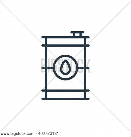 oil icon isolated on white background. oil icon thin line outline linear oil symbol for logo, web, a