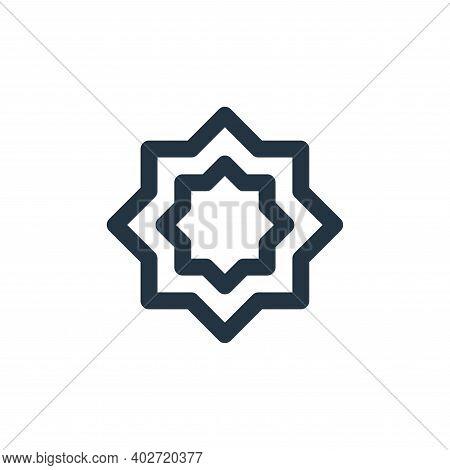 rub el hizb icon isolated on white background. rub el hizb icon thin line outline linear rub el hizb