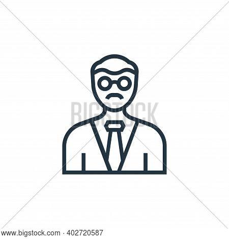 professor icon isolated on white background. professor icon thin line outline linear professor symbo