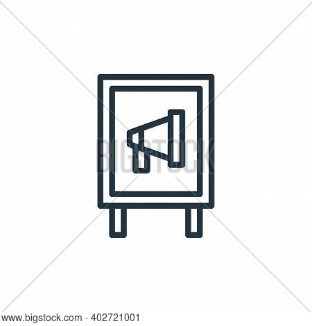 Advertisement icon isolated on white background. Advertisement icon thin line outline linear Adverti