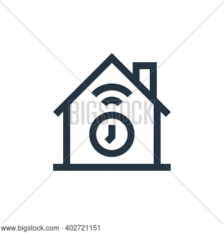timer icon isolated on white background. timer icon thin line outline linear timer symbol for logo,