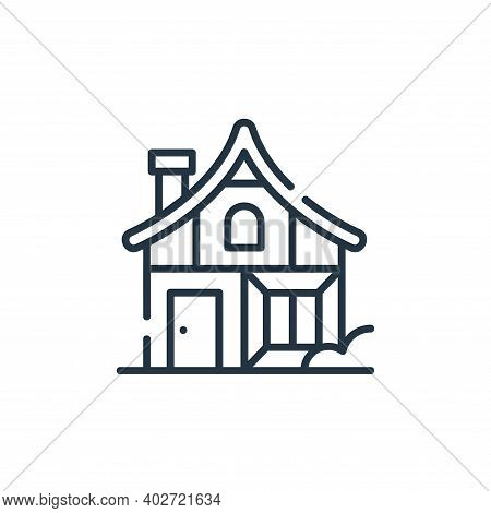 medieval house icon isolated on white background. medieval house icon thin line outline linear medie
