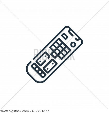 remote control icon isolated on white background. remote control icon thin line outline linear remot