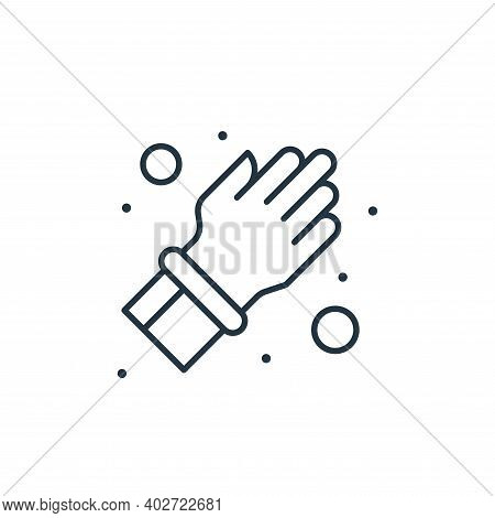 rubber gloves icon isolated on white background. rubber gloves icon thin line outline linear rubber