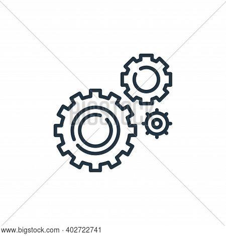 settings icon isolated on white background. settings icon thin line outline linear settings symbol f