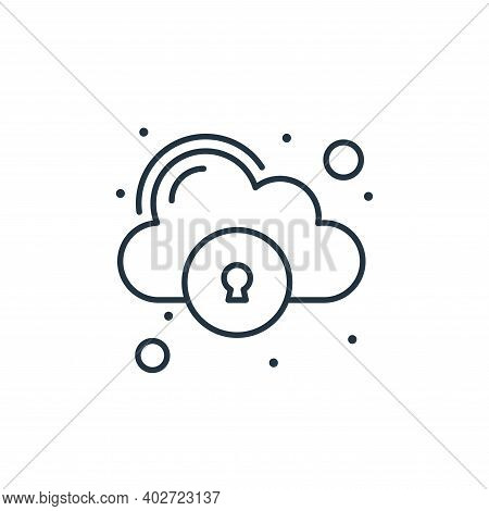 cloud storage icon isolated on white background. cloud storage icon thin line outline linear cloud s