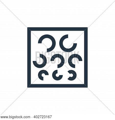 eye test icon isolated on white background. eye test icon thin line outline linear eye test symbol f