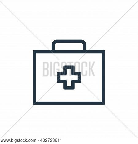 medicine box icon isolated on white background. medicine box icon thin line outline linear medicine