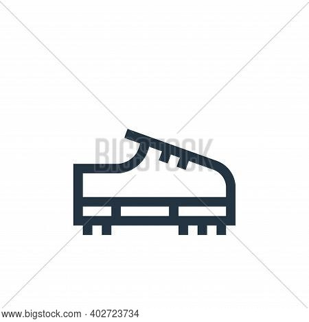 shoe icon isolated on white background. shoe icon thin line outline linear shoe symbol for logo, web