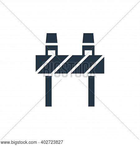 road block icon isolated on white background. road block icon thin line outline linear road block sy