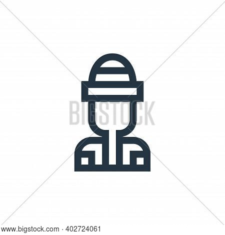 rapper icon isolated on white background. rapper icon thin line outline linear rapper symbol for log