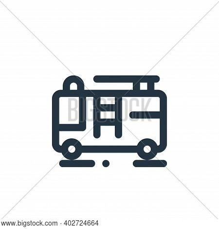 fire truck icon isolated on white background. fire truck icon thin line outline linear fire truck sy