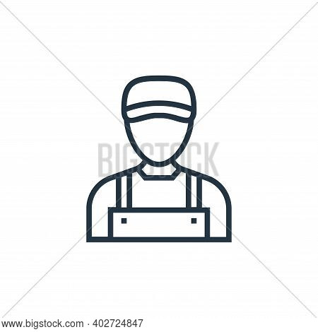 Plumber Vector Icon Isolated On White Background.
