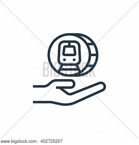 save money icon isolated on white background. save money icon thin line outline linear save money sy