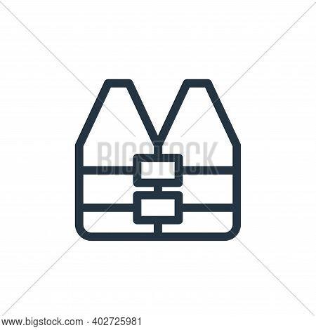 life vest icon isolated on white background. life vest icon thin line outline linear life vest symbo