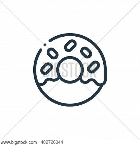 donut icon isolated on white background. donut icon thin line outline linear donut symbol for logo,